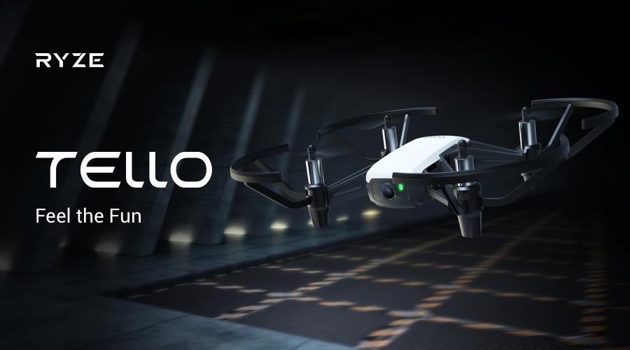 DJIとIntelの技術を集めたトイドローン「Tello」が新登場。先行予約を開始。