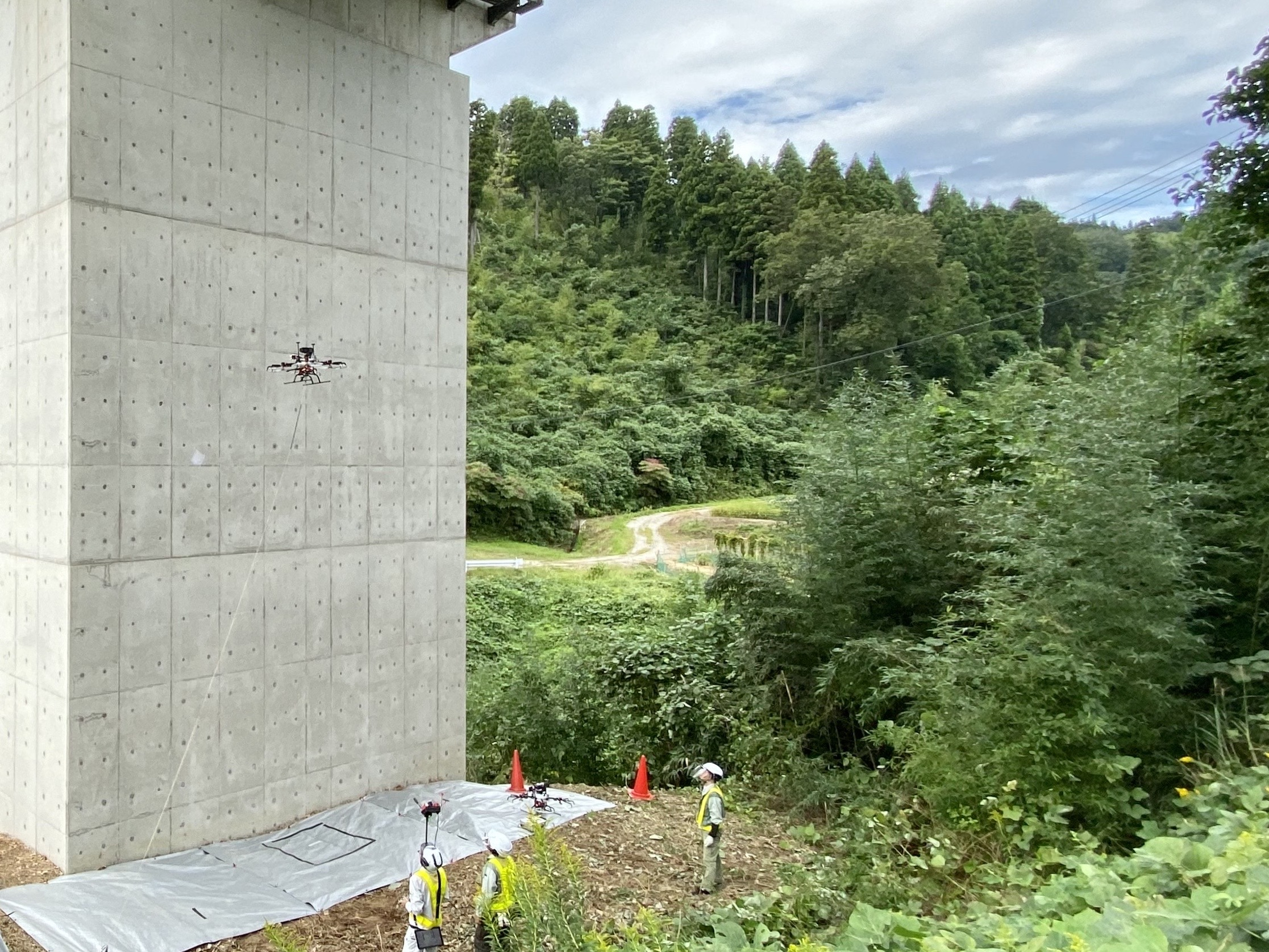 大日本コンサルタント×FLIGHTS ドローンを利用した橋梁点検講習会開催